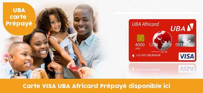 Commander votre carte Africard UBA VISA