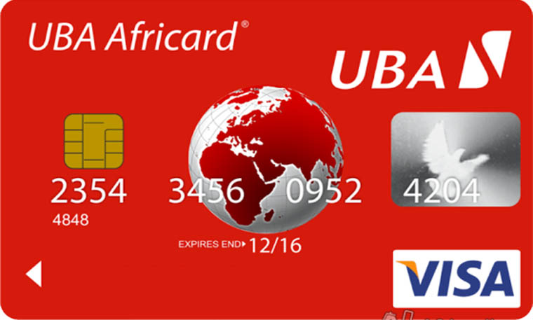 Carte VISA UBA Internationale